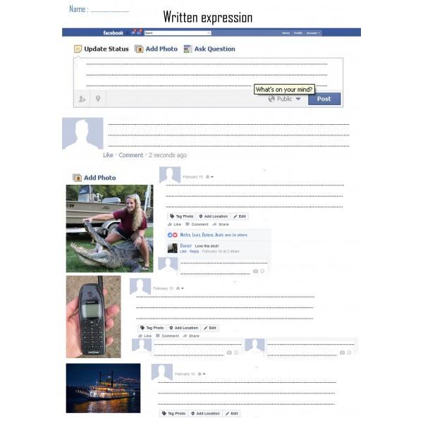Activité d'expression écrite Facebook