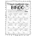 Rentrée scolaire- Bingo: Trouve quelqu'un qui