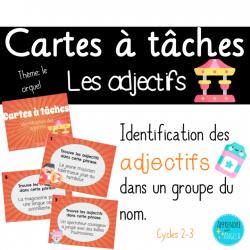 Cartes à tâches: Les adjectifs