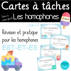 Cartes à tâches: Homophones est-et-es