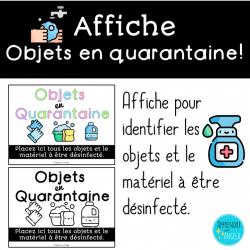Affiche: Objets en quarantaine