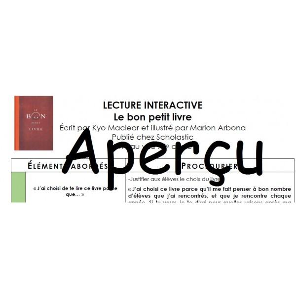 Lecture interactive: Le bon petit livre