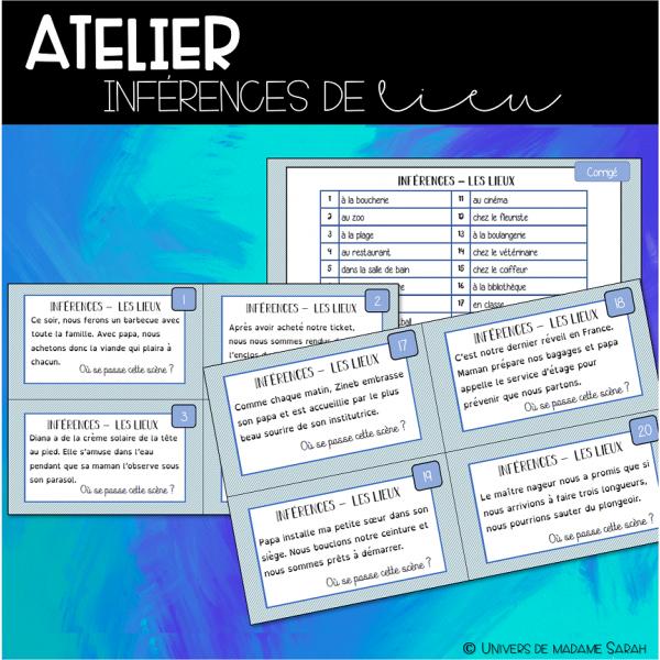 ATELIER D' INFÉRENCES - LIEUX