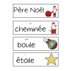 Mots-étiquettes Noël (petits et gros)