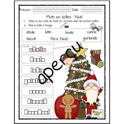 3 Mots en boîtes: Noël et vêtements d'hiver