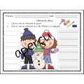 Hiver, Lecture et écriture vêtements d'hiver