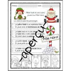 Noël, Père Noël et ses lutins  au Pôle Nord