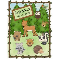 Animaux de la forêt, petits mots-étiquettes