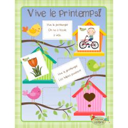 Printemps, Vive le printemps! Lecture