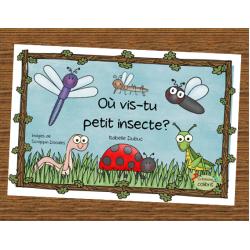 Où vis-tu petit insecte? Livre pour débutants