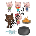Les trois petits cochons, Numération