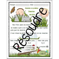 Insectes en pots, résolution de problème