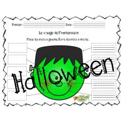 Halloween, Visages d'Halloween, Je lis et j'écris