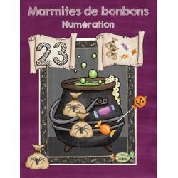 Halloween, Marmites de bonbons, Numération