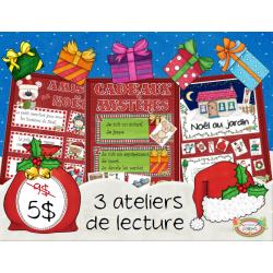 Noël, Ensemble de 3 ateliers, Lire et écrire