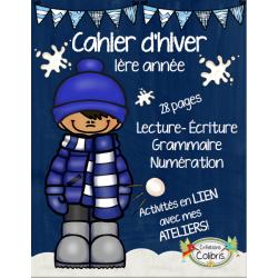 Hiver, Cahier thématique d'hiver, 1re année