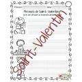 Saint-Valentin, J'écris