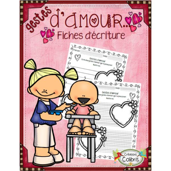 Saint-Valentin, Gestes d'amour, Écriture
