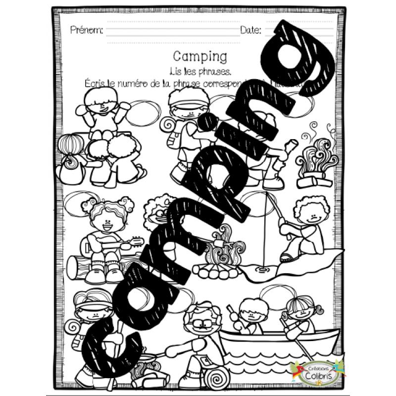 T camping 2 en 1 lecture - Effroyables jardins questionnaire de lecture ...