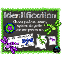 Identification, Libellules
