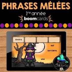 Boom cards, Phrases mêlées, Halloween, 1re année