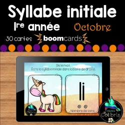 Boom cards, Syllabe initiale, Octobre