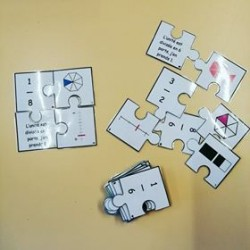 Casse-tête représentation de fractions