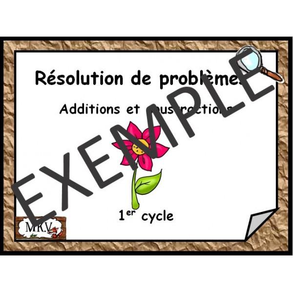 Cartes à tâches Résolution de problèmes  1 cycle