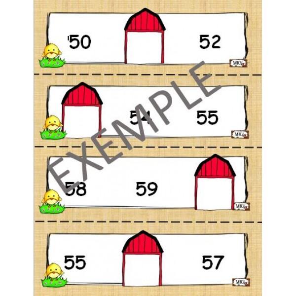Cartes à tâches nombre avant-après-entre 0 à 60