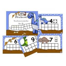 Dinosaures préscolaire dénombrement base 10