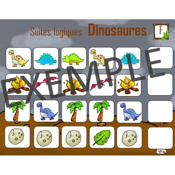 Suites logiques Dinosaures