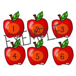 Affiches nombres 0 à 100 pommes