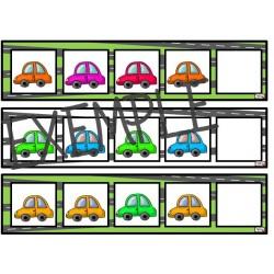 Suites logiques petites voitures Préscolaire