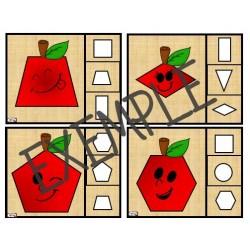 Drôle de pommes cartes à tâches