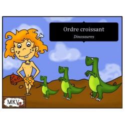 Ordre croissant et décroissant Dinosaures