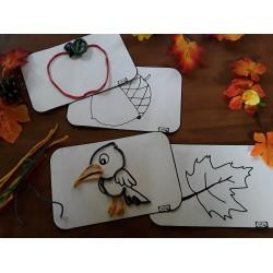 Tracés en ficelles de cire automne