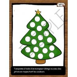 Noël à tamponner do a dot