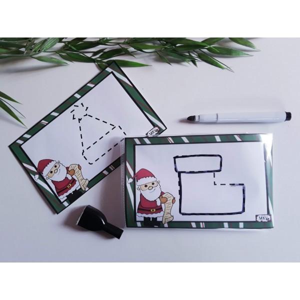 Émergence de l'écrit tracés de Noël