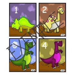 cartes dénombrement dinosaure