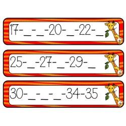 nombres manquants suite de 0 à 50