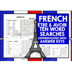 FRENCH ÊTRE & AVOIR WORD SEARCHES