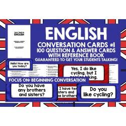ESL EFL ENGLISH CONVERSATION CARDS #1