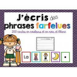 J'écris des phrases farfelues