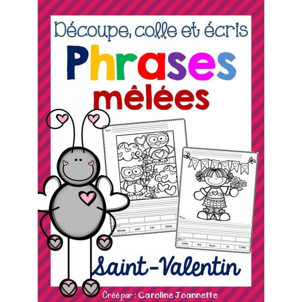Phrases mêlées - SAINT-VALENTIN