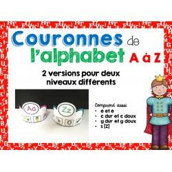 Couronnes de l'alphabet A à Z