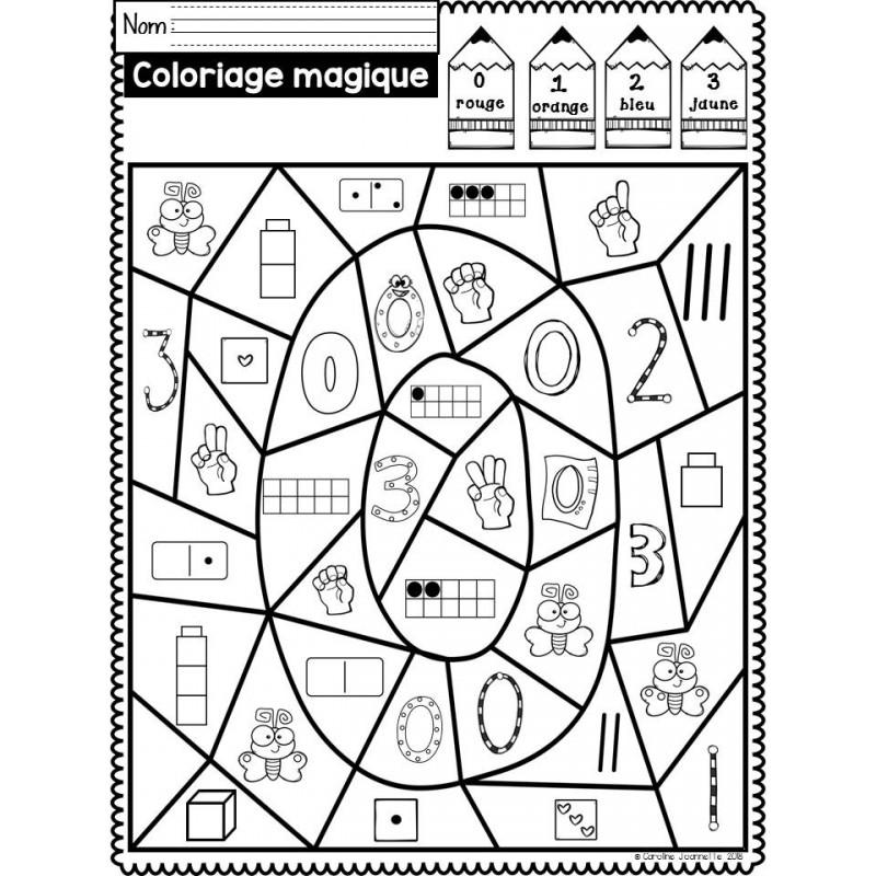 Coloriage Magique Nombres 1 10