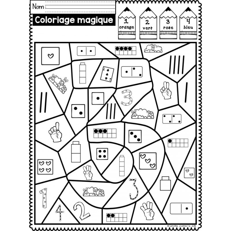 Coloriage magique nombres 1 10 - Coloriage mathematique ...