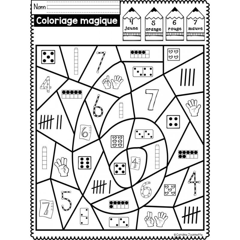Coloriage magique nombres 1 10 - Coloriage magique nombres ...