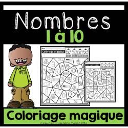 Coloriage magique - Nombres 1-10