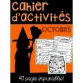 Cahier d'activités - Octobre